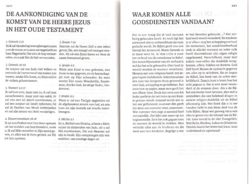 Bijbel 'De Levensbron' pag. XXIV en XXV