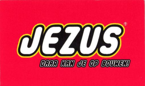 Jezus - Daar kun je op bouwen (voorkant) traktaat