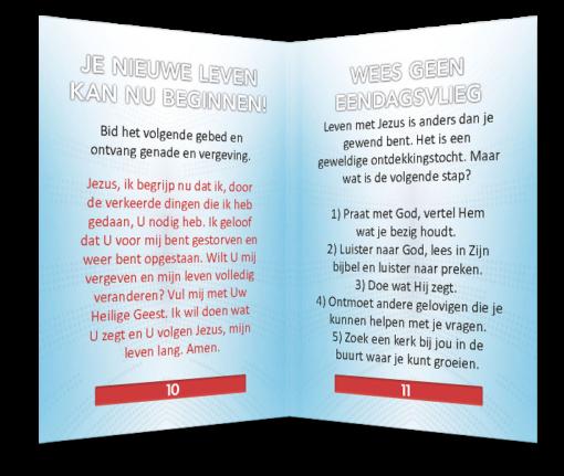 Miniboekje evangelisatie - Goed Nieuws - Evangelisatie-materiaal.nl - Pagina 10-11