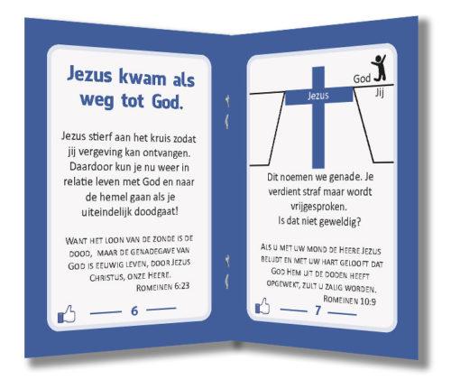 Miniboekje evangelisatie - Jezus vindt jou leuk - Evangelisatie-materiaal.nl - Pagina 6-7