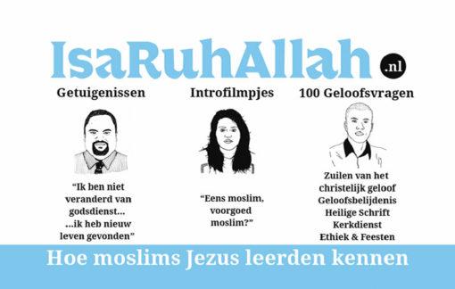 Moslims evangelisatie traktaat - IsaRuhAllah (achterkant)