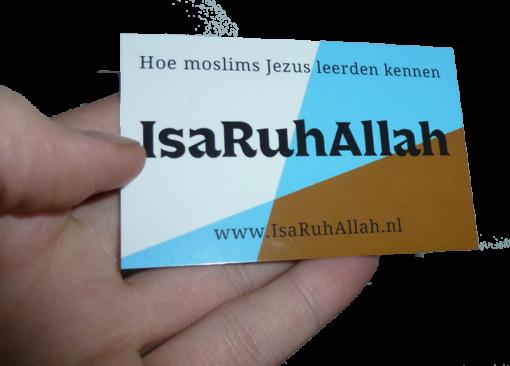 Moslims evangelisatie traktaat - IsaRuhAllah (in hand)
