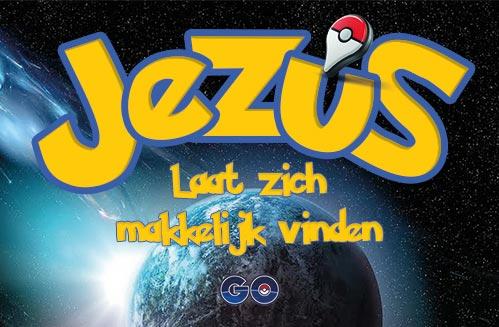 Pokémon Go - evangelisatie-materiaal.nl - Jezus laat zich makkelijk vinden (voorkant)